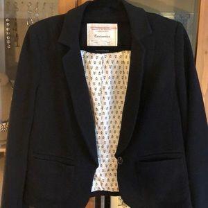 Anthropologie- Cartonnier black knit jacket- 10